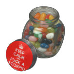 [Crown] keep calm and fuck a scorpio  Glass Jars