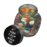 [Electric guitar] keep calm and rock on  Glass Jars