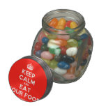 [Crown] keep calm and eat your food  Glass Jars
