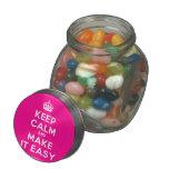 [Crown] keep calm and make it easy  Glass Jars