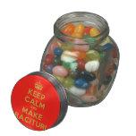 [Crown] keep calm and make racituri  Glass Jars
