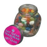 [Crown] eat clean train mean and get lean  Glass Jars