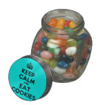 [Crown] keep calm and eat cookies  Glass Jars