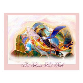 Glass Koi Fish Japan Art Fashion Card