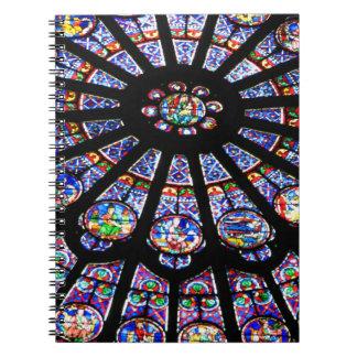 Glass Light Spiral Notebook