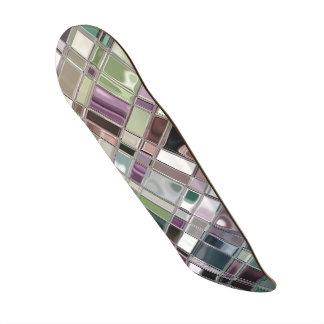 Glass Like Shiney Mosaic Pattern Skateboard Deck