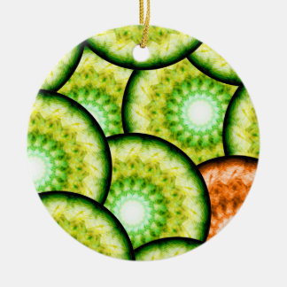 Glass Limes Ceramic Ornament