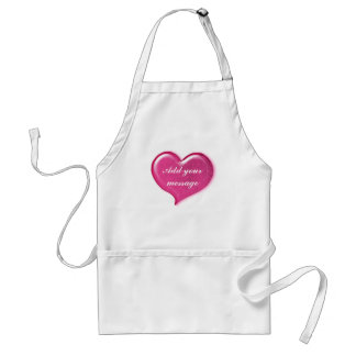 Glass Love Heart Design - Pink Adult Apron