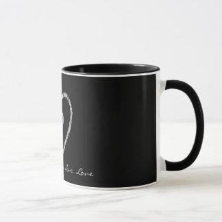 Glass Love Heart Mug