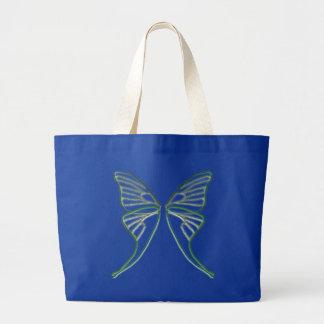 Glass Luna Moth Wings Large Tote Bag