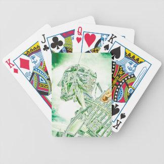 Glass Man Robot Bicycle Playing Cards
