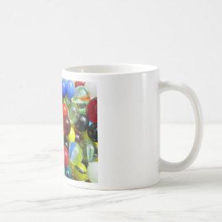 Glass Marble Classic White Coffee Mug
