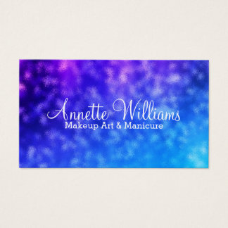Glass marble mineral blue purple business card