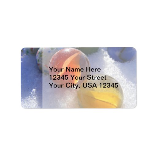 Glass Marbles Address Labels