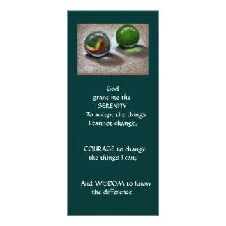GLASS MARBLES: ART: SERENITY PRAYER RACK CARD
