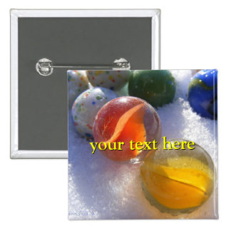 Glass Marbles Button