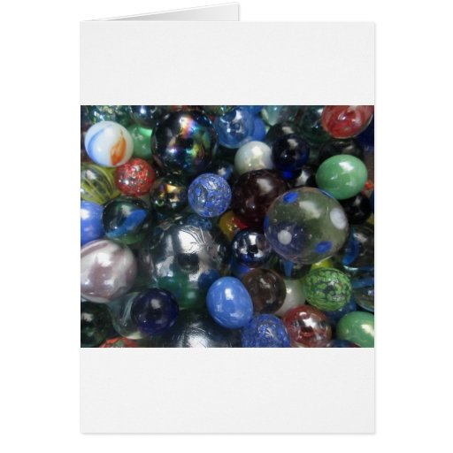 Glass Marbles Greeting Cards