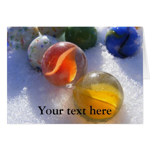 Glass Marbles Greeting Card