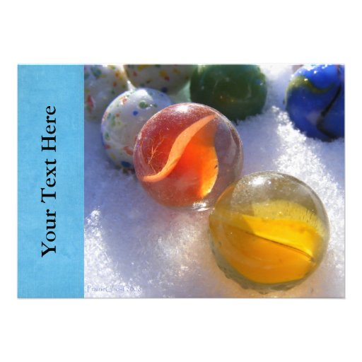 Glass Marbles Invitations