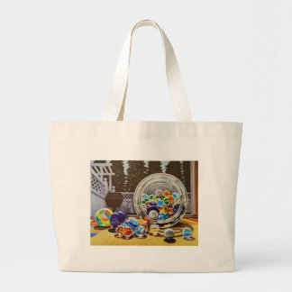 Glass Marbles Large Tote Bag