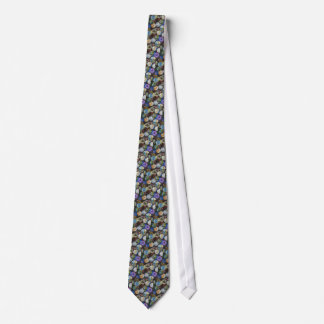 Glass Marbles: Original Color Pencil Drawing Neck Tie