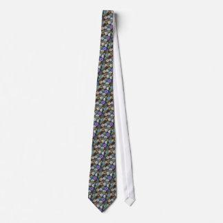 Glass Marbles: Original Color Pencil Drawing Neck Tie