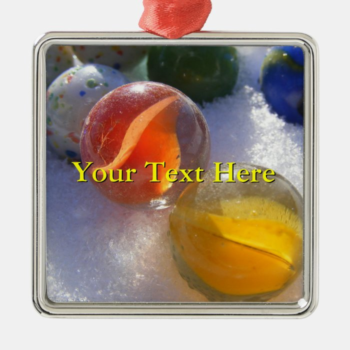 Glass Marbles Ornament