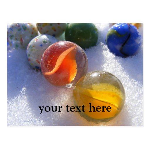 Glass Marbles Postcard