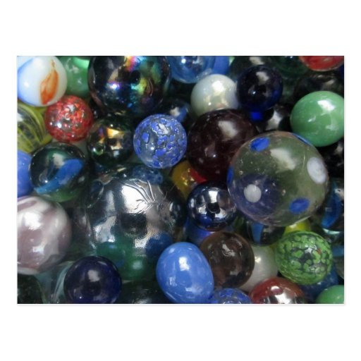Glass Marbles Post Cards