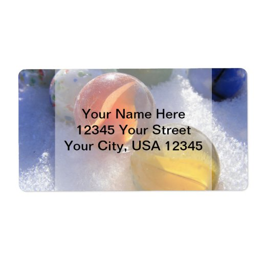 Glass Marbles Shipping Labels