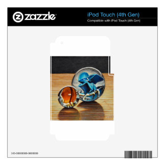 Glass Marbles Tiger Eyes Decals For iPod Touch 4G