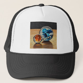 Glass Marbles Tiger Eyes Trucker Hat