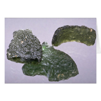 Glass meteorites (tektites) greeting cards