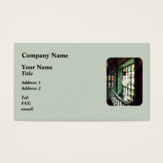 Glass Mortar and Pestle on Windowsill Business Card
