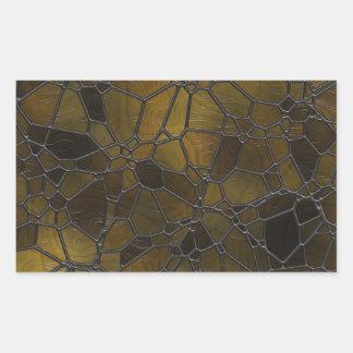 Glass Mosaic Images Rectangular Sticker