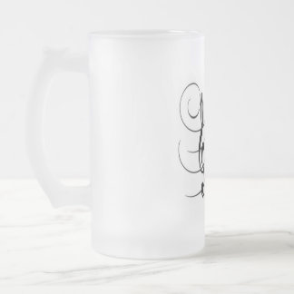 Glass mug fosco 473 ml Design Musical Notes