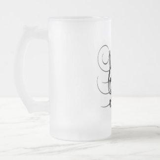 Glass mug fosco 473 ml Design Musical Notes