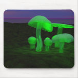 glass mushrooms mouse mat