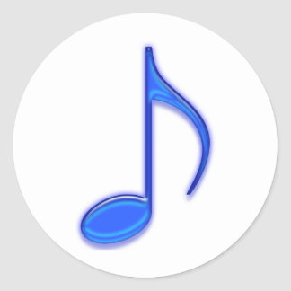 Glass Music Tools Classic Round Sticker