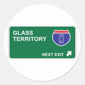 Glass Next Exit Classic Round Sticker