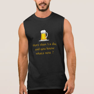 Glass of 3 beers a day t-shirt