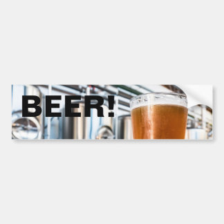 Glass of Beer at Microbrewery Bumper Stickers