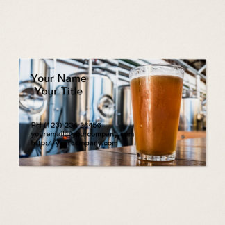 Glass of Beer at Microbrewery Business Card