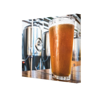 Glass of Beer at Microbrewery Canvas Print