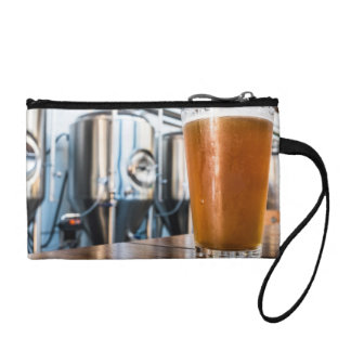 Glass of Beer at Microbrewery Coin Wallet