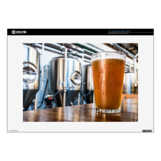 """Glass of Beer at Microbrewery Decals For 15"""" Laptops"""
