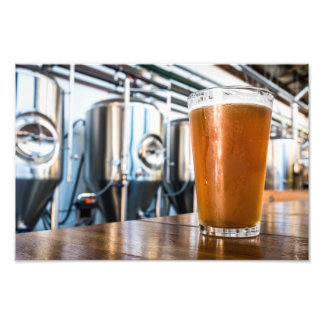 Glass of Beer at Microbrewery Photo Print