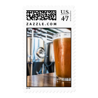 Glass of Beer at Microbrewery Stamp