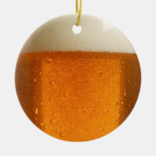 Glass of Beer Ceramic Ornament