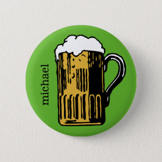 Glass of Beer custom name & color button